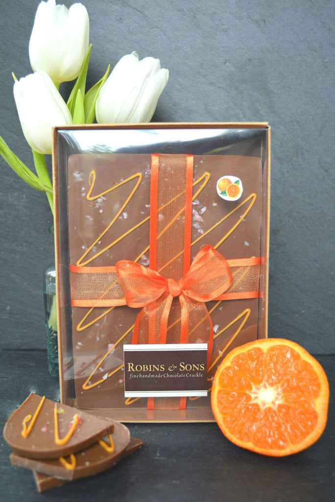 Orange Crackle TM Bar - Milk