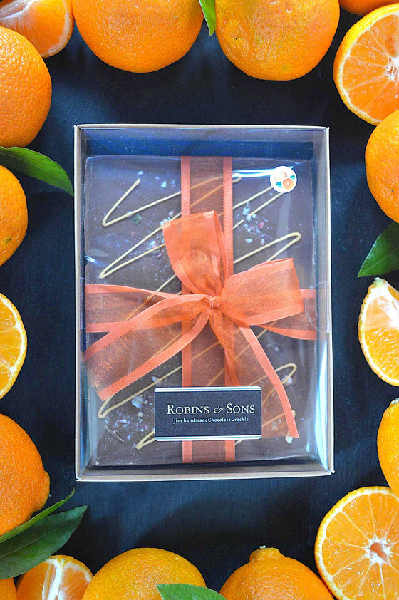 luxury milk chocolate orange gift boxed bars corporate UK online