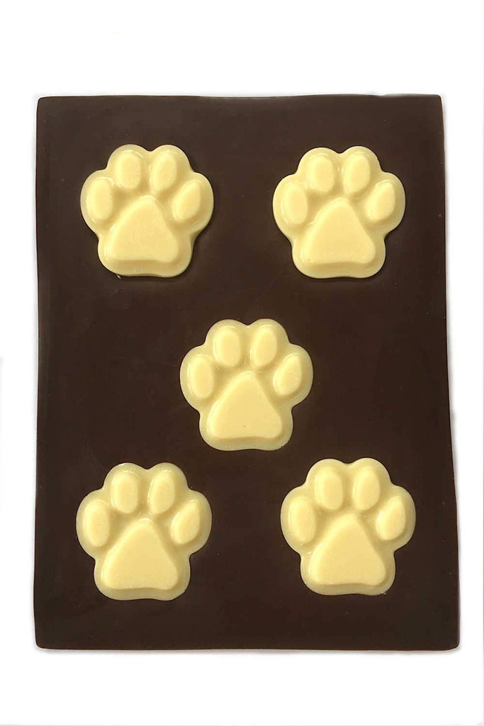 Belgian dark and white chocolate gift bar present idea for cat dog lovers owners