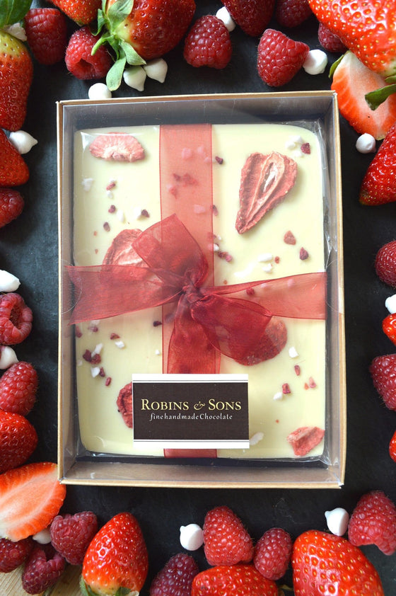 luxury belgian white chocolate with strawberries raspberries and meringue buy online