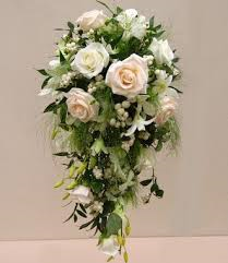 Brides Shower Bouquet    All Whites