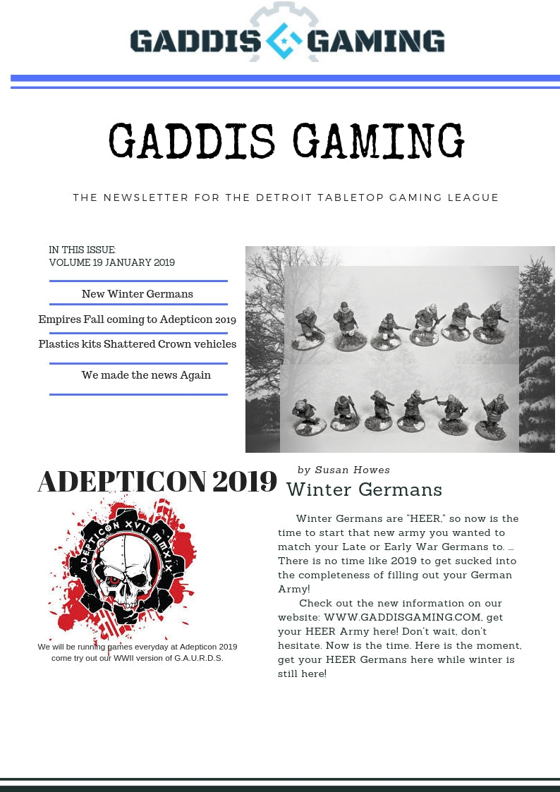 New Miniatures coming to Gaddis Gaming