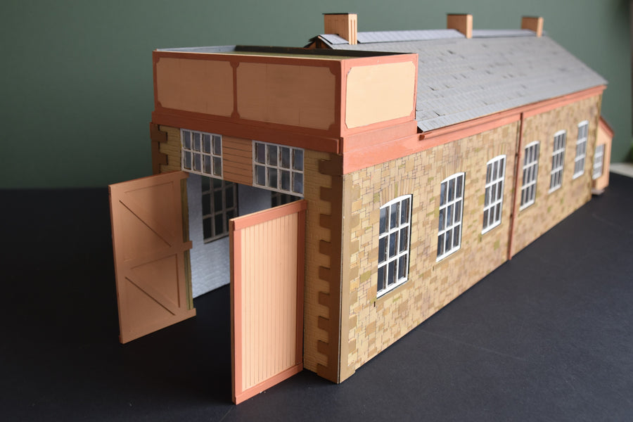 Completed Model of Princetown Engine Shed in 7mm