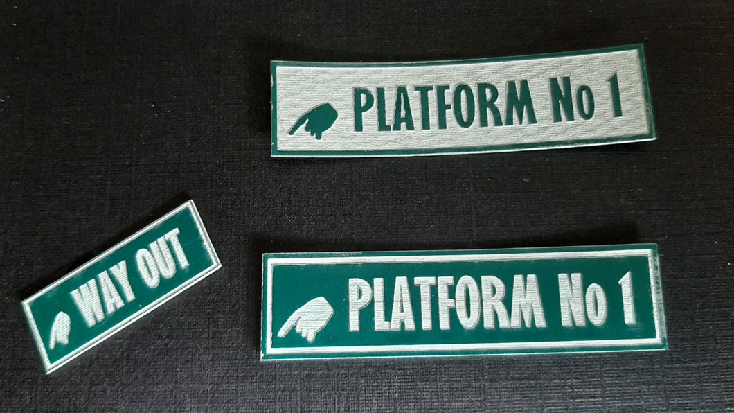 Station Signs - in 4mm & 7mm