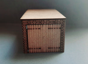 Laser cut single garage