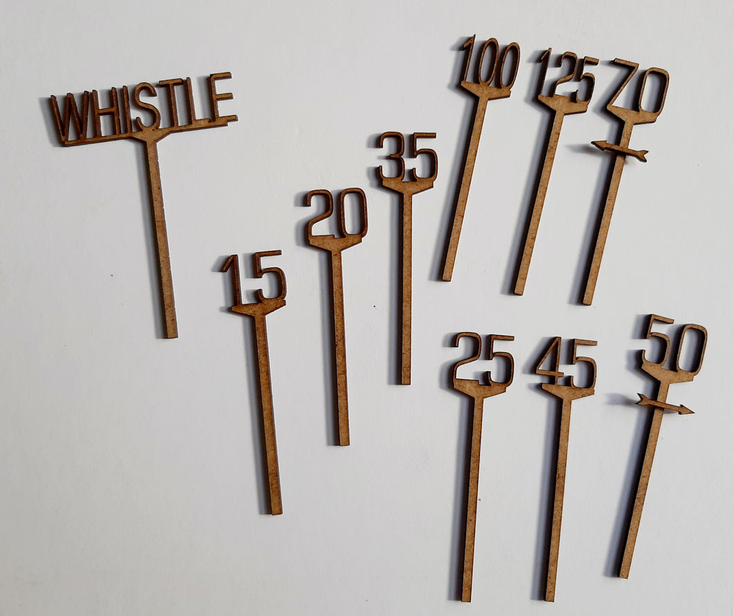 Speed & Whistle Signs in 4mm & 7mm