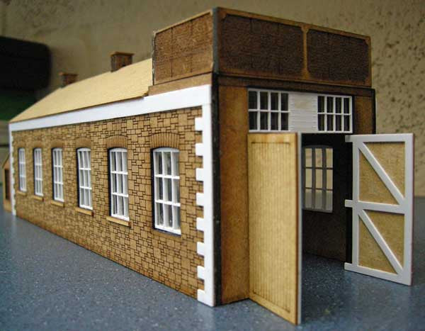 Engine Shed based on GWR Princetown shed - in 4mm & 7mm