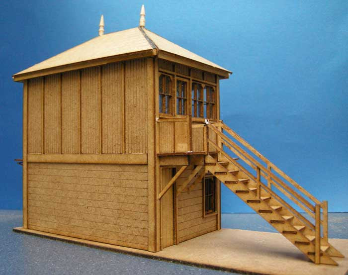 Signal Box based on Holloway Midland Rail - in 7mm