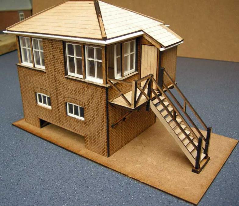 Signal Box based on Farncombe East LSWR - in 7mm
