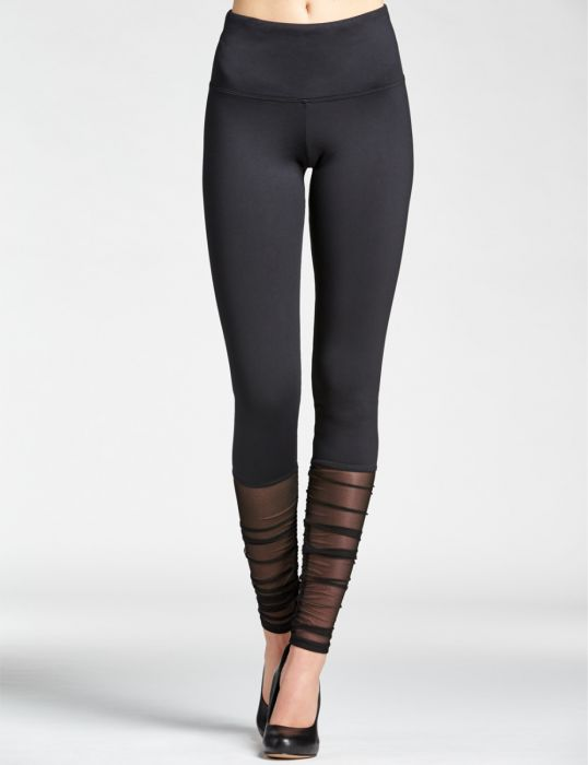Mondor Dance Leggins Ruched Black Adults
