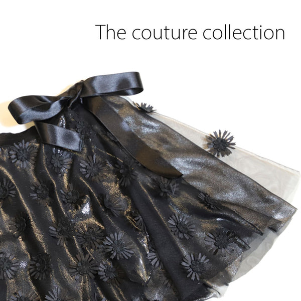 Couture Ballett Chiffon Rock Daisy Black