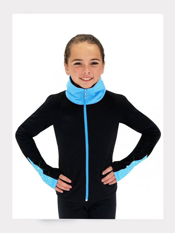 Elite Polartec® Fleece Trainingsjacke Royal-Blau mit Kristallen