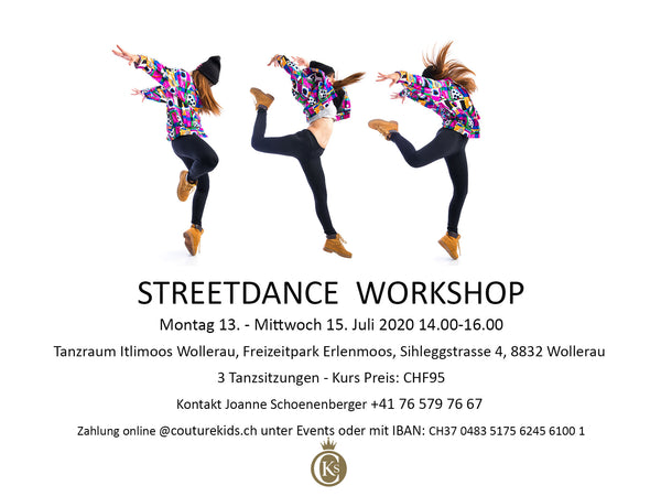 Streetdance Modern Workshop 13. - 15. Juli 2020