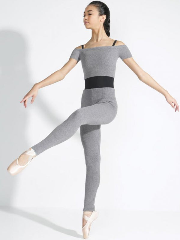 Capezio Sweater Leggins warm-up grau