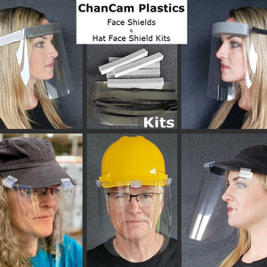 ChanCam PPE Face Shields, Face Shield Kits and Accessory Kit Components available separately