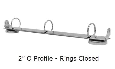 O Profile - 2 Inch Magnetic 3 Ring Binder