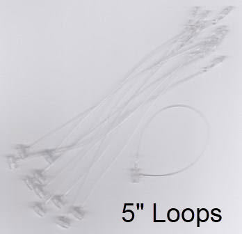 "5"" Security Loop Tie for Retail Tag Holders, 1000/pack"