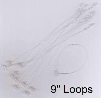"9"" Security Loop Tie for Retail Tag Holders, 1000/pack"