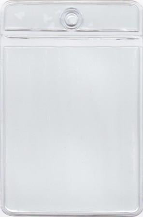 MCC103 - Retail Tag Holder paper size 2 x 2 5/8 with top hole, Short Side Opens, 7.5 mil Clear Vinyl