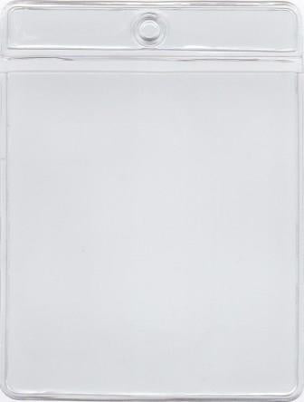 MCC107 - Retail Tag Holder paper size 3 x 3 3/8 with top hole, Short Side Opens, 7.5 mil Clear Vinyl