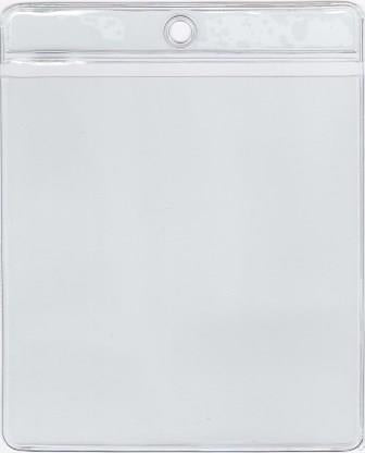 MCC111 - Retail Tag Holder paper size 3 3/4 x 4 1/4 with top hole, Short Side Opens, 7.5 mil Clear Vinyl