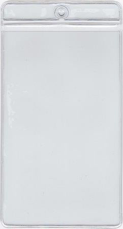 MCC112 - Retail Tag Holder paper size 3 x 5 1/8 with top hole, Short Side Opens, 7.5 mil Clear Vinyl