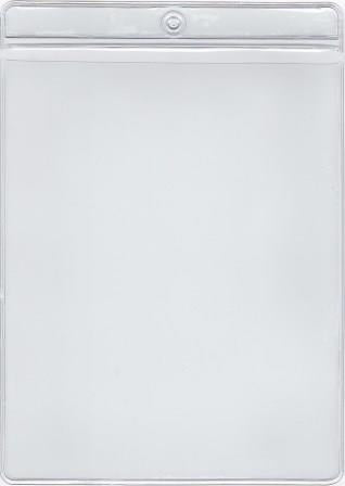 MCC125 - Retail Tag Holder paper size 4 5/8 x 6 with top hole, Short Side Opens, 7.5 mil Clear Vinyl