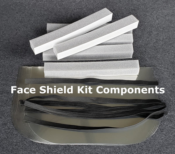Face shield kit component contents