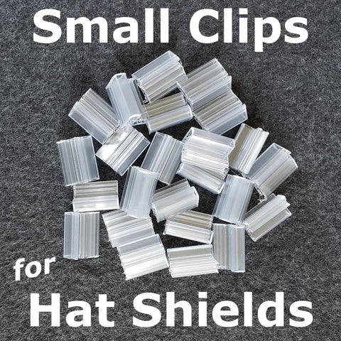 Hat Face shield replacment clips - small size - hat bills up to 1/8""