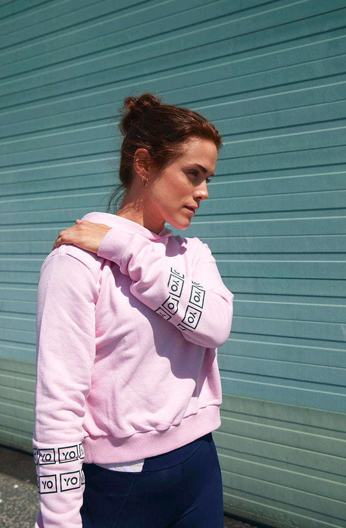 EVA CROP HOODIE 1 - YO COLLECTION - PINK