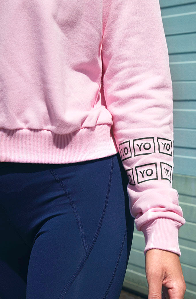 EVA CROP HOODIE 3 - YO COLLECTION - PINK