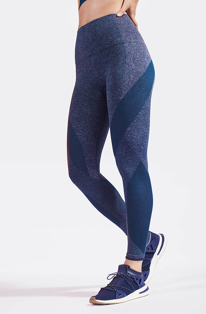 LAUNCH leggings 1 - LNDR - Light Blue Marl