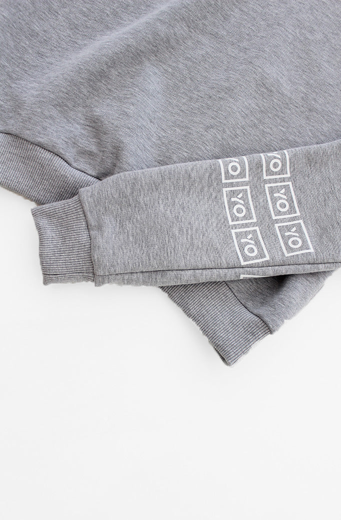 YO COLLECTION - EVA CROP HOODIE - GREY