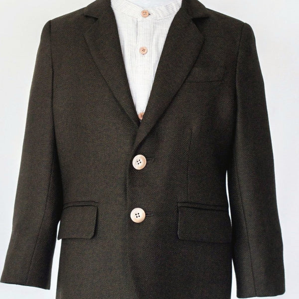 italian wool kids sports coat