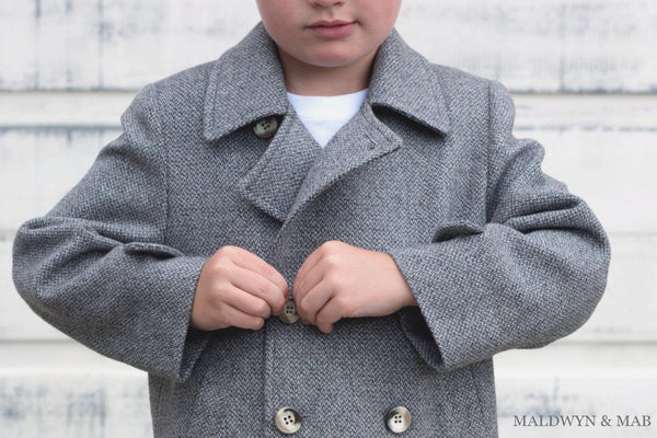 cashmere kids peacoat