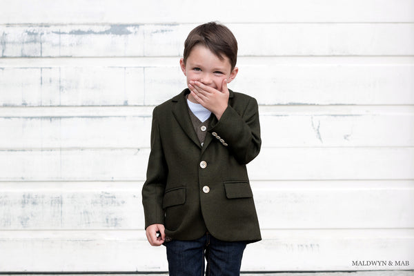 kids wool sports coat