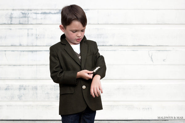 wool kids sports coat