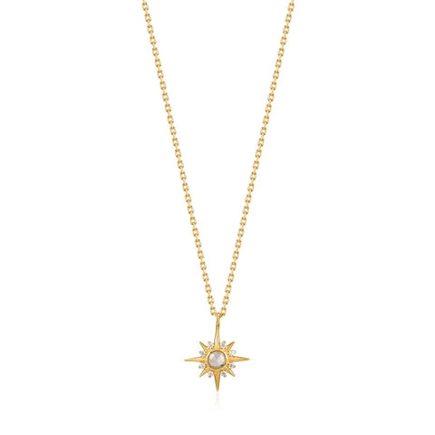 Halsketting Ania Haie Gold Midnight Star Necklace
