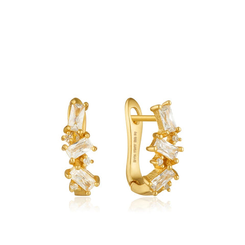 Oorbellen Ania Haie CLUSTER HUGGIE EARRINGS GOLD