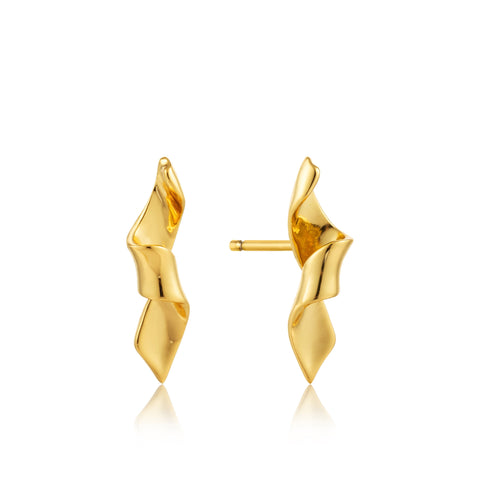 Oorbellen Ania Haie Gold Helix Stud Earrings