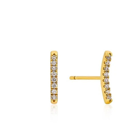 Oorbellen Ania Haie TOUCH OF SPARKLE EARRINGS GOLD