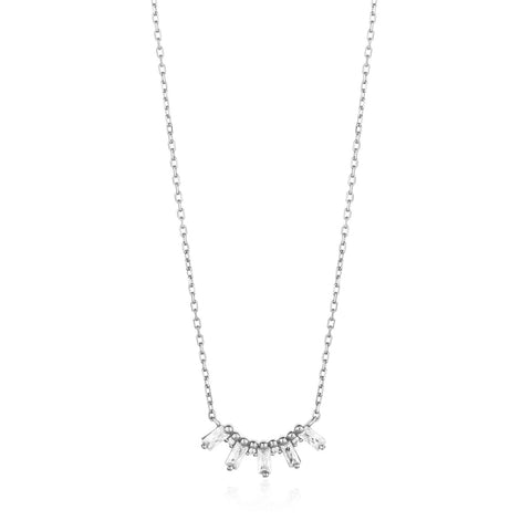 Halsketting Ania Haie SILVER GLOW SOLID BAR NECKLACE