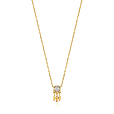Halsketting Ania Haie Gold Midnight Fringe Necklace