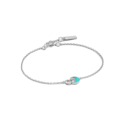Armband Ania Haie Silver Tidal Turquoise Crescent Link Bracelet