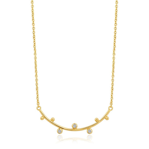 Halsketting Ania Haie GOLD SHIMMER SOLID BAR STUD Necklace