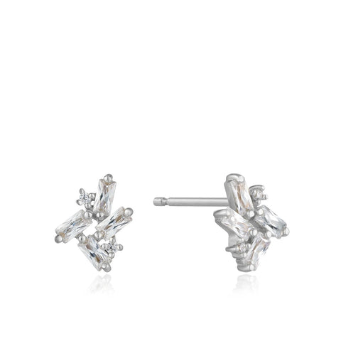 Oorbellen Ania Haie CLUSTER STUD EARRINGS SILVER