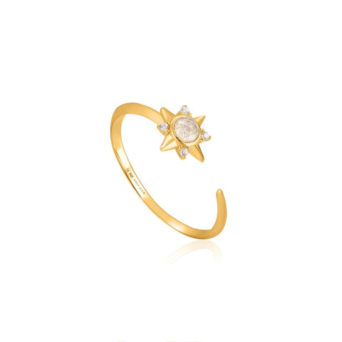 Ring Ania Haie Gold Midnight Star Adjustable Ring