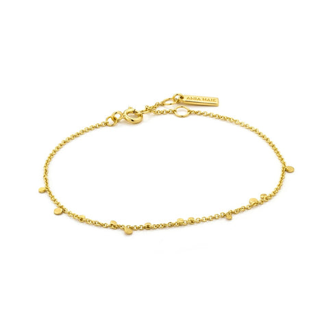 Armband Ania Haie GEOMETRY MIXED DISC BRACELET GOLD