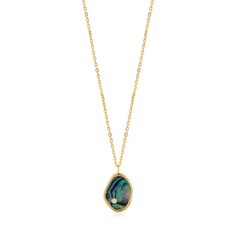 Halsketting Ania Haie Gold Tidal Abalone Necklace
