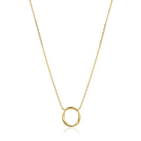 Halsketting Ania Haie Gold Swirl Necklace
